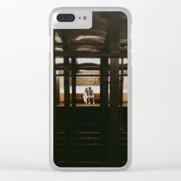 New York Subway Station: Christopher Street Sheridan Square Clear iPhone Case