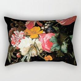 Flower Still Life - Maria van Oosterwyck (1669) Rectangular Pillow