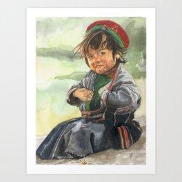 Little sherpa Art Print