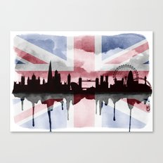 Great British Flag London Skyline 2 Canvas Print