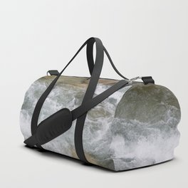 River in Japan - Stones in Water - Rocks in Wild Water - Wall Art Photography Duffle Bag