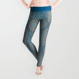 Tribal Tile Blue Leggings