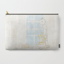 Cat Smelling Flower Carry-All Pouch