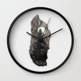 Piece of Wood Wall Clock