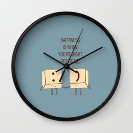 Happy Smile Keyboard Buttons Wall Clock