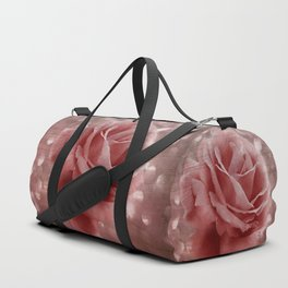 Vintage Dusty Rose Duffle Bag