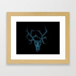 Wendigo ice blue Framed Art Print