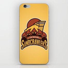 Tatooine SandCrawlers - Gold iPhone Skin