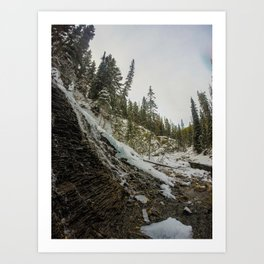 Bridal Veil Falls in Jasper National Park, Alberta Art Print