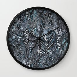 Busy Forest Print Wall Clock
