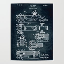 1933 - Wheeled toy patent Poster