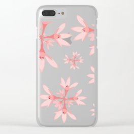 floral pattern Clear iPhone Case