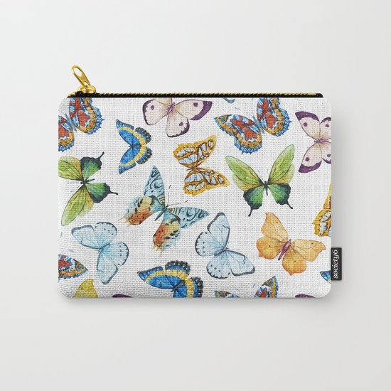 Butterfly Pattern 02 Carry-All Pouch