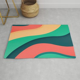 The river, abstract painting Rug