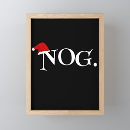 "Funny Christmas Eggnog ""NOG""  Framed Mini Art Print"
