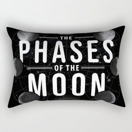 8 Phases of the Moon in Order Image Diagram Meaning Rectangular Pillow