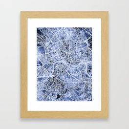 London England Street Map Framed Art Print
