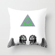 ⊕ Green Angels ⊕ Throw Pillow