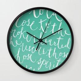 Psalm 34:18 Wall Clock