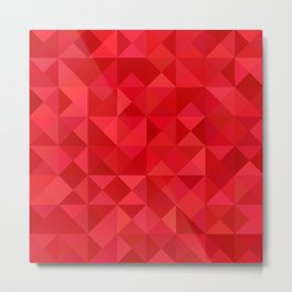 Red triangles Metal Print