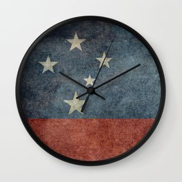Samoan national flag - Vintage retro version to scale Wall Clock