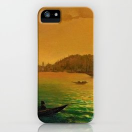 View of Constantinople by Moonlight by Ivan Aivazovsky iPhone Case