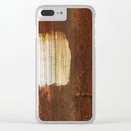 Rust 06 Clear iPhone Case