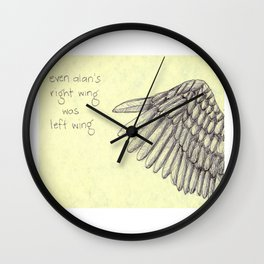 Right Wing Left Wing Wall Clock