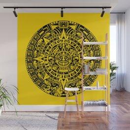Mayan Calendar // Yellow Wall Mural