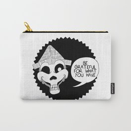 Paper Hat Skull Carry-All Pouch
