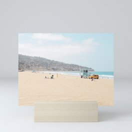 Redondo Beach // California Ocean Vibes Lifeguard Hut Surfing Sandy Beaches Summer Tanning Mini Art Print