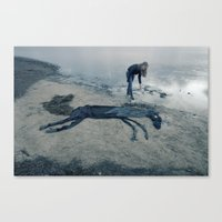 sea horse Canvas Prints featuring Sea horse by Kestere