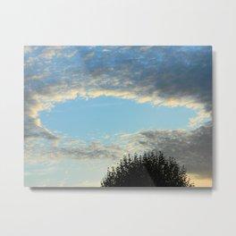 October - Cloud Pool Metal Print