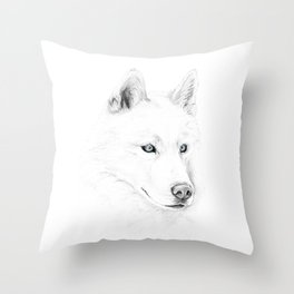 Saber :: A Siberian Husky Throw Pillow