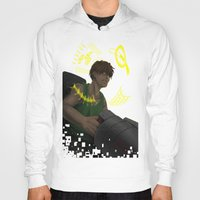 gundam Hoodies featuring Who is My Enemy? - Gundam Wing Print by PinStripes Studios