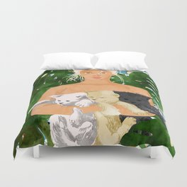 Morocco Vacay #illustration #painting Duvet Cover