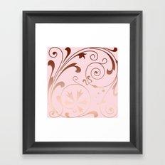 Rose Quartz Gold Komingo Framed Art Print