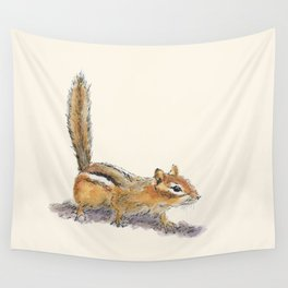 Curious Chipmunk Wall Tapestry
