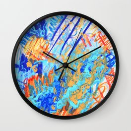 Burning Alive Wall Clock