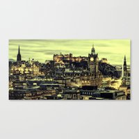 edinburgh Canvas Prints featuring Edinburgh by EclipseLio