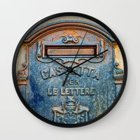 italian Wall Clocks featuring Italian mailbox by Silvia Ganora