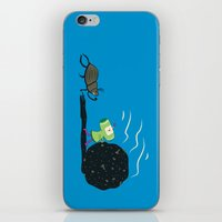 katamari iPhone & iPod Skins featuring Dung Roller Katamari by Hoborobo