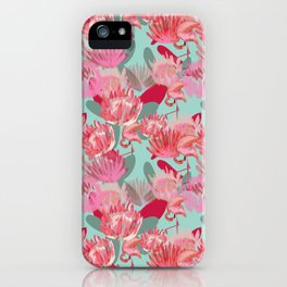 Flamingos and Proteas iPhone Case