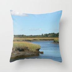 Marsh scene Throw Pillow