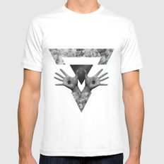 Hº White MEDIUM Mens Fitted Tee