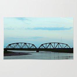 Train Bridge at Dusk Rug