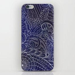 transparent white zen pattern dark blue gradient iPhone Skin