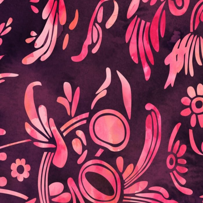 Watercolor Damask Pattern 01 Leggings