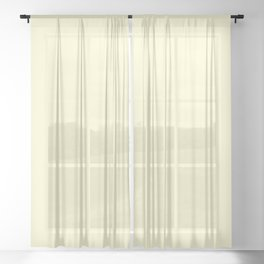 Pastel Lemon Yellow Pale Soft Meringue Yellow Sheer Curtain