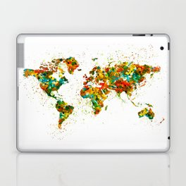 Map of the World watercolor Laptop & iPad Skin